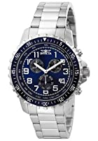 Invicta Men's 6621 II Collection Chronograph Stainless Steel Blue Dial Watch by Invicta