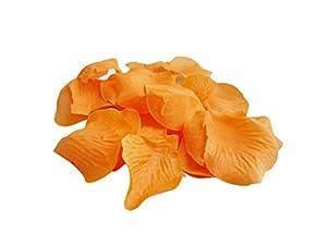 Classykidzshop Orange Loose Silk Artificial Rose Petal Flowers