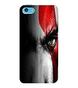 ColourCraft Eyes Design Back Case Cover for APPLE IPHONE 5C