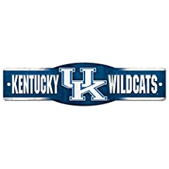 Buy Kentucky Wildcats Official NCAA 4x17 Street Sign by Wincraft by WinCraft