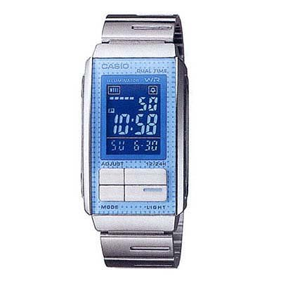 Casio Women'S Futurist Alarm Chronograph Lcd Watch #La201W-2B