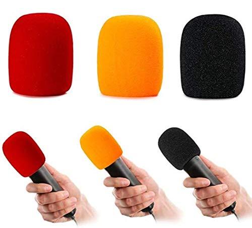 PoP voice 6Pcs Handheld Microphone Sponge Foam Cover, Wind Filter, Stage/Karaoke Microphone Windscreen