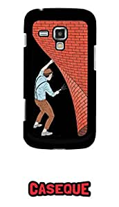 Caseque Secret Back Shell Case Cover For Samsung Galaxy Trand Duos