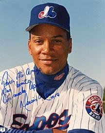 Moiss Alou Autographed Montreal Expos Baseball 8x10 Photo - Autographed MLB Photos by Sports+Memorabilia