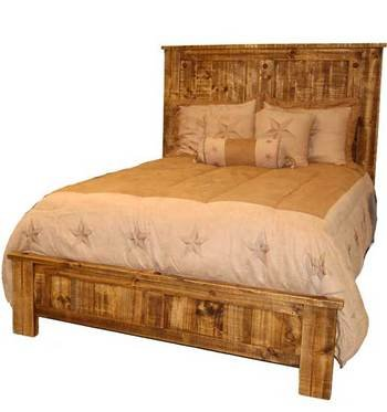 Rustic, Western, Natural Reclaimed King Size Bed