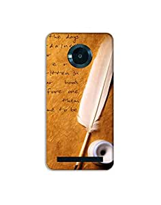 Micromx Yuphoria ht003 (163) Mobile Case from Mott2 - Nice Quote - Feather Pen (Limited Time Offers,Please Check the Details Below)