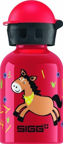 Sigg Farmyard Horse Water Bottle, Red, 0.3-Liter front-875608