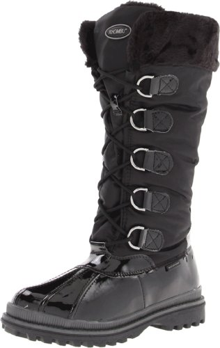 Khombu Women's Birch High 2 Boot,Black Patent,10 B (M) US