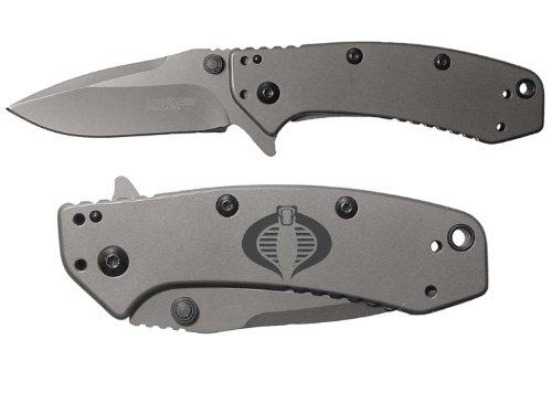 Gi Joe Cobra Engraved Kershaw Cryo 1555Ti Folding Speedsafe Pocket Knife By Ndz Performance
