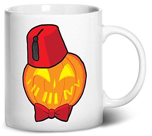[Dancing Participle Timey Wimey Pumpkin Coffee Mug, 11oz, White] (Matt Smith Halloween Costume)