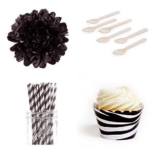 Dress My Cupcake Dessert Table Party Bundle, Mini, Wild Zebra Print