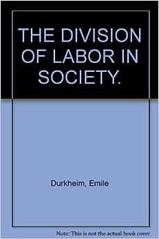 Division of labour emile durkheim am
