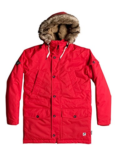 Quiksilver Ferris Parka M Jckt Tmp0, Color: Racing Red, Size: L