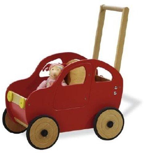 Pinolino 262604 Lauflernwagen Jonas, tolle Kinder Lauflernhilfe in Autoform, Buche bunt lackiert mit Gummibereifung, einstellbarem Bremssystem und Schiebegriff, unisex, Maße: 54 x 33 x 59 cm, Gewicht 7,25 kg