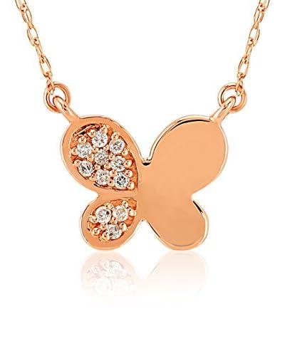 Divas Diamond Conjunto de cadena y colgante Diamond Butterfly