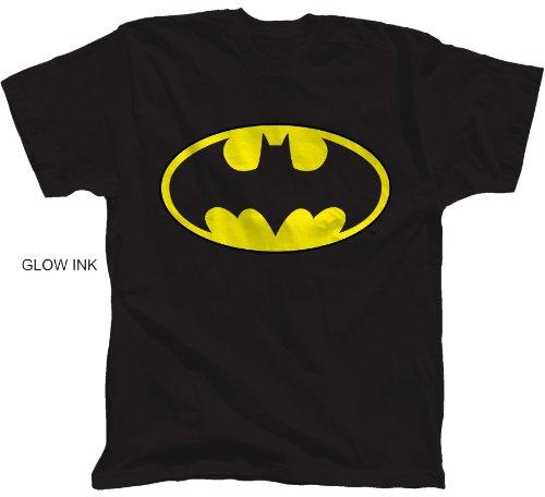Batman Glow Ink Classic Logo Youth T-Shirt (Small)