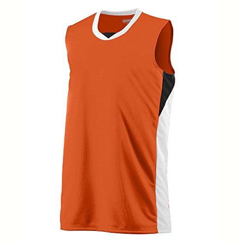 Boys' Wckng Duo Knit Game Jersey Augusta Sportswear M Orange/White/Black