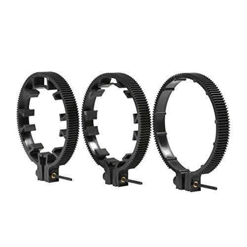 Movo FR3 Adjustable 3-Piece Follow Focus Ring Gear Set - Includes 65mm, 75mm and 85mm Lens Rings (Standard 32 pitch - 0.8 mod) (Follow Focus Ring compare prices)