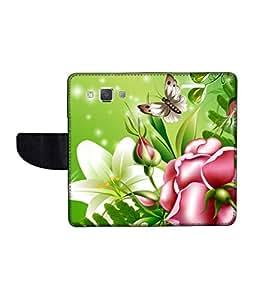 KolorEdge Printed Flip Cover For Samsung Galaxy A5 -Multicolor (50KeMLogo11019SamA5)