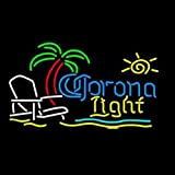 HOZER Professional CORONA LIGHT Neon Light Sign Store Display Beer Bar Sign Real Neon Signboard for Restaurant Convenience Store Bar Billiards Shops