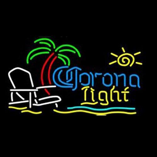 Hozer® Professional 17*14 Corona Light Neon Light Sign Store Display Beer Bar Sign Real Neon Signboard For Restaurant Convenience Store Bar Billiards Shops
