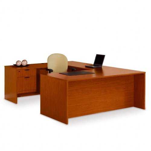national office furniture udesk with left bridge cheap office desk