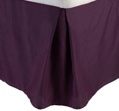 Lamma Loe'S Solid Tailored Bed Skirt/Dust Ruffle, Twin, Eggplant Purple front-734763