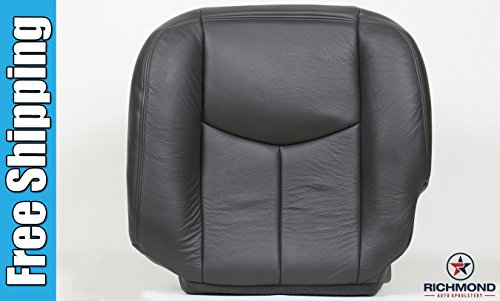 2006 chevy silverado 2500hd driver side bottom replacement leather seat cover dark gray chevy. Black Bedroom Furniture Sets. Home Design Ideas