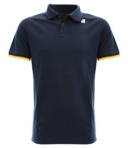 VINCENT cont B29 navy Polo da uomo slim fit colore blu navy Blu navy XXL