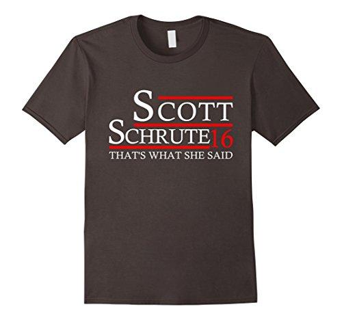 Men's That Is What She Said Scott Schrute 16 T-Shirt XL Asphalt