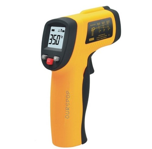 """New Arrival Ourspop® Gc300 1.2"""" Lcd Digital Infrared Thermometer Ir Infrared Digital Temperature Gun Thermometer Laser Point Consistent Instant Temps For Industrial, Electrical, Auto, Ac, For Cooking Grill, Fryer, Oven, Wood Stove"""