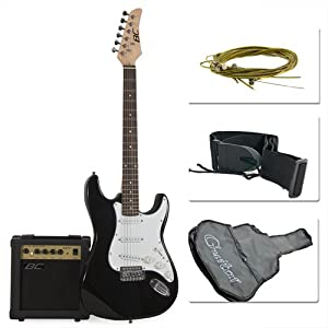Full Size Blue Electric Guitar with Amp, Case and Accessories Pack Beginner Starter Package by Best Choice Products