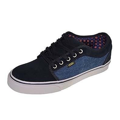 Vans shoes sneaker chukka low denim black grey size for Vans amazon