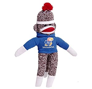 "Kansas Jayhawks 8"" NCAA Officially Licensed Collegiate Sock Monkey at 'Sock Monkeys'"