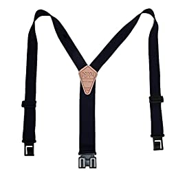 Perry Suspender Men's 1.5'' Elastic Original Adjustable Suspenders (Navy)