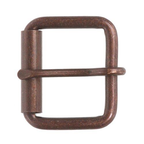 """1 1/2"""" (38 mm) Single Prong Roller Belt Buckle Color: Antique Copper"""