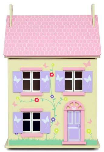New in Box Pretty Yellow 3 Storey Wooden Honeycomb Dolls House Kit by Sue Ryder