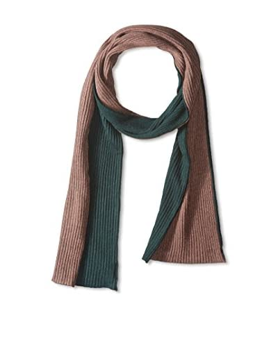 Portolano Men's Merino 2-Tone Solid Knit Scarf, Sable Brown