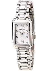 Bulova Women's 8-Diamond Mother of Pearl Dial Watch BL 96P157