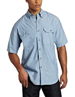 Carhartt Men's  Fort Short Sleeve Shirt Lightweight Chambray Button Front
