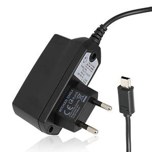 Wicked Chili Schnellader Netzteil für Navigon Navigationsgeräte (1000mA, Mini-USB) schwarz