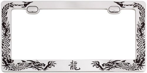 CHROME DRAGON LICENSE PLATE FRAME