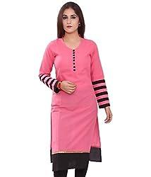 Shyam Creation New Cotton Kurties(pink)