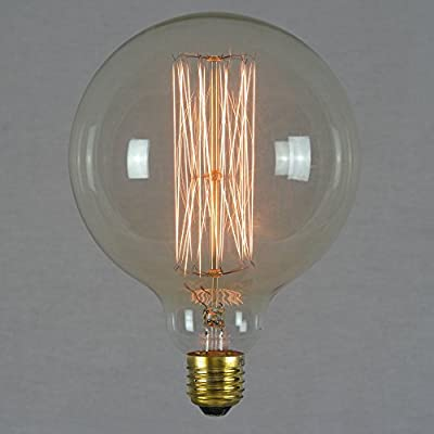 Vintage Edison Light Bulb 60w - Giant Squirrel Cage Globe 125mm E27 ES Dimmable - The Retro Boutique ®