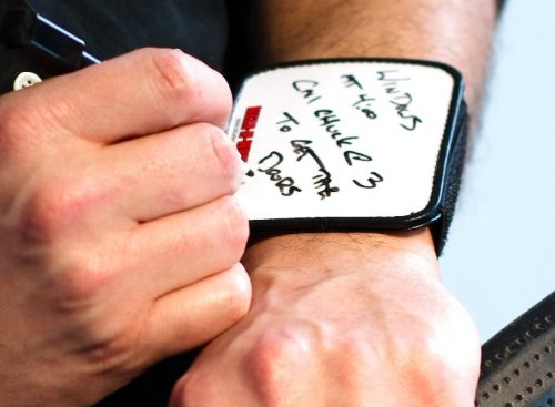 WEAR-N-WRITE Wristband Dry Erase Notepad Writing Tablet for Contractors, Home Improvement, Office, Organizing, Customer Service.