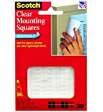 3M Mounting Squares, Clear, .68-Inch by .68-Inch, 35-Pack