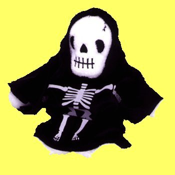 TY Beanie Baby - CREEPERS the Skeleton - 1