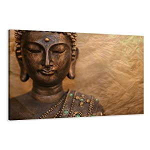 bilder auf leinwand buddha 120 x 80 cm modell nr xxl 5041 bild. Black Bedroom Furniture Sets. Home Design Ideas