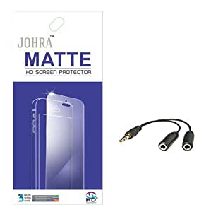 Johra Matte Screen Scratch Guard Protector With Aux Splitter ForLetv LeEco Le 2