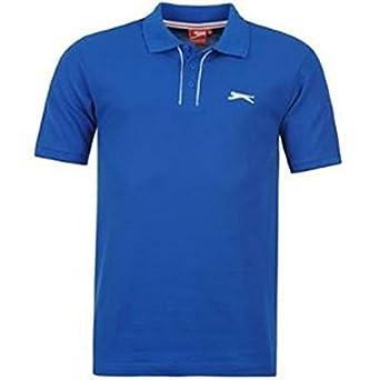 Slazenger Plain Polo Shirt Mens Royal Large